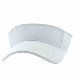 Wholesale Caps and Hats in Bulk - Solid Visor Hat (White) - VP023