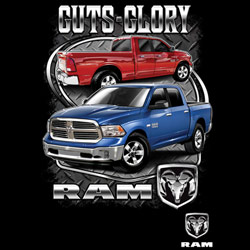 Wholesale Retail Supplier - Bulk T Shirts Wholesalers, Wholesale, Car, T Shirts, Clothing, Apparel, Bulk, Suppliers - GUTS AND GLORY RAM TRUCK  20421HD1-1