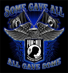 T Shirts Wholesalers, Military, Patriotic  - Pow Mia Some Gave All, Long Sleeve T Shirts - S269BLSP (BLACK)