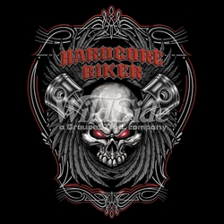 Wholesale Clothing Biker Motorcycle T Shirts Hats Products Men's Women's Bulk Suppliers Online Buy Shop - 15189-12x14-hardcore-biker-pistons-and-skull
