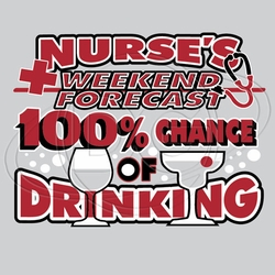 Wholesale Clothing, Nurse's Drinking T-Shirt Supplier, Wholesale Supplier of Funny T-Shirts in Bulk - N-485