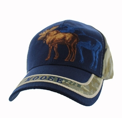 Wholesale Clothing Men's Fashion Hats Embroidered Logo - VM150-13 Hunting Moose Velcro Cap (Navy & Hunting Camo)