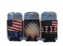 Wholesale Convenience Store Items Bulk Best Selling Online - PATRIOTIC CAN HOLDER-2 12CT