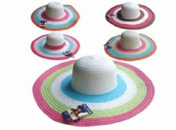 Wholesale Convenience Store Supplies - LADIES STRIPE FLOPPY HAT