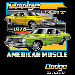 Dodge Dart Vintage Classic Car T Shirts Cheap Online Sale At Wholesale Prices - DODGE DART 20413HD2-2T