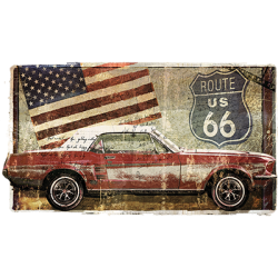 Route 66 Car Wholesale Fashion Clothing Apparel Products - Graphic Tees Wholesale in Bulk Suppliers - 21839HD4