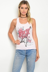 Wholesale Fashion Clothing Boutique Supplier Women's Junior Teenage - C37-B-6-T4169 BLUSH TANK TOP 2-2-2