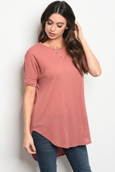 Wholesale Fashion Clothing Boutique Supplier Women's Junior Teenage - C75-B-3-T4409 MAUVE TOP 2-2-2