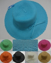 Wholesale Fashion Hats - HT800. Ladies Summer Hat with Thin Bow [Scalloped Edge]