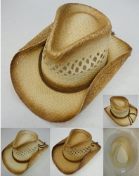 Wholesale Fashion Hats HT829. Paper Woven Cowboy Hat [Open Weave]