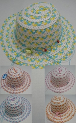 Wholesale Fashion Hats HT839. Girl's Summer Hat with Bow [MultiColor]