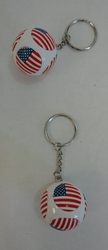 TY007. Round Key Chain with Flag