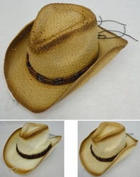 Clothing Apparel Headwear Wholesale Bulk - HT1504. Paper Straw Cowboy Hat