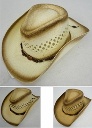 Clothing Apparel Headwear Wholesale Bulk - Fashion Hats Wholesale -HT1508. Paper Straw Cowboy Hat