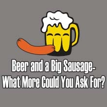 Wholesale Funny Beer Sausage Products T Shirts Hats for Resale Online - 22408