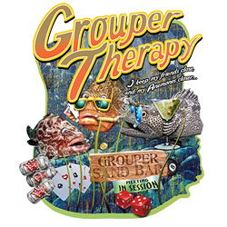 Wholesale, Funny, T Shirts, Clothing, Apparel, Bulk, Suppliers - GROUPER THERAPY  19582HD2-1