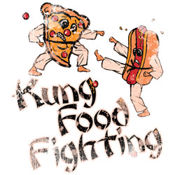 Wholesale, Funny, T Shirts, Clothing, Apparel, Bulk, Suppliers - KUNG FOOD FIGHTING  20077HL2-1