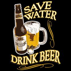 Wholesale, Funny, T Shirts, Clothing, Apparel, Bulk, Suppliers - SAVE WATER  17905D2-1