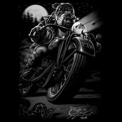 T-Shirts Wholesale Bulk Biker Funny Dog - 10533D0-1