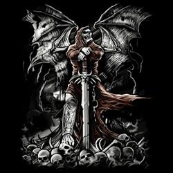 Skull Gothic Cheap Bulk Wholesale Clothing - Grim Reaper T Shirts - 11259D0-1