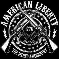 Men's Women's Adult Gun T Shirts Clothing Wholesale Suppliers - AMERICAN LIBERTY 19520D2-1