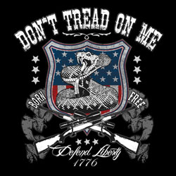 Patriotic Don't Tread on Me - Wholesale Clothing, Hats, Caps, Blank Apparel, Bulk T-Shirts, Cheap Polo Shirts, Supplier - MSC Distributors