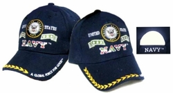 US Navy Military Hats and Caps - Wholesale Bulk - ECAP381b. Military Embroidered Acrylic Cap