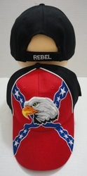 Patriotic Wholesale Merchandies Flea Market Bulk Supplier - HT522. Rebel Flag Hat with Eagle Head