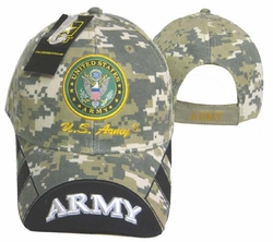 Wholesale Military Logo Embroidered Baseball Hats Caps Bulk - CAP601EC Army Emblem
