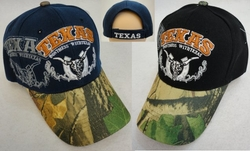 Hats Caps Wholesale Products Gifts Supplier Bulk - HT560. TEXAS DON'T MESS WITH TEXAS Hat [Camo Bill]