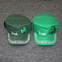 Wholesale Apparel Bulk Cheap Discount Sale St Patricks Day Hats - Clothing - VC-013 Irish Embroidered Clover