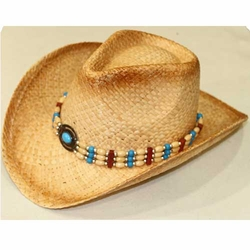 Wholesale Country Hats - ST-002 Straw Cowboy Hat Drop Shipping - ST-002 Straw Cowboy Hat