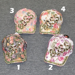 Novelty and Costume Hats - Wholesale Suppliers Women's Unique Funny Custom Vintage Online - AA-006 Lady's Bling Glitter Summer Cap (BOSS G125)