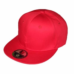 Wholesale Blank Hats - BP-207 Cotton Flatbill Fitted [Red]