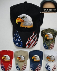 Wholesale Military Patriotic Hats and Caps Suppliers - HT758. Eagle Hat with Flag Flames