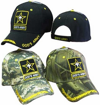 Wholesale Christian Hats God's Army Cheap Online Drop Shipping - CAP824