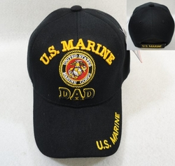 Hats Wholesale Bulk Military - Marine Dad Hats - HT2775. Licensed US Marine DAD Ball Cap-Black Only