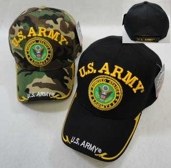 Hats Wholesale Bulk Military - HT3845ASST. Licensed US Army [Seal] Ball Cap Assorted Colors