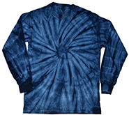 Wholesale Clothing, Tie Dye T Shirts, Long Sleeve T Shirts, Wholesale T Shirts, SPIDER NAVY