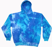 Tie-Dye T-Shirts, Hoodies & Other Clothing - Cheap Bulk Prices - Tie Dye Sweatshirts Clothing Wholesale Pullover Hoodie - BLUE MIX