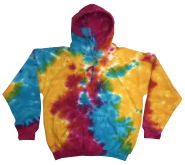 Tie Dye Sweatshirts Clothing Wholesale Pullover Hoodie - MULTI RAINBOW