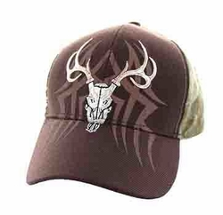 Wholesale Embroidered Hunting Hats and Caps in Bulk - Hunting Velcro Cap (Brown Hunting Camo) - VM648