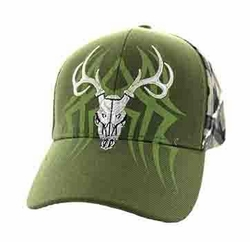 Wholesale Hunting Hats and Caps in Bulk - Hunting Velcro Cap (Olive & Hunting Camo) - VM648
