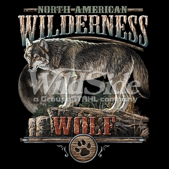 Timber western grey wolf t shirts clothing wholesale msc for Wildlife t shirts wholesale