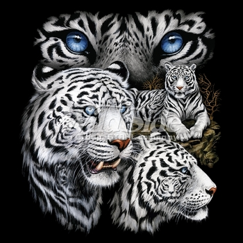 Wholesale Hunting Hats and Caps in Bulk - White Tiger T-Shirts, Animal T Shirts, Wholesale T Shirts - MSC Distributors