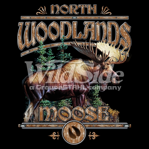 Wholesale hunting in bulk moose t shirts animal t for Wildlife t shirts wholesale