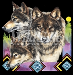 Wholesale Timber Western Grey Wolf  T Shirts Clothing Wholesale - MSC Distributors