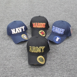 Wholesale Licensed US Military Hats Caps - MI-263 Military Big Letter Cap (Color Seal On Bill)