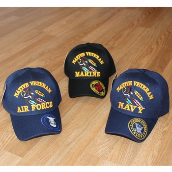 Wholesale Licensed US Military Hats Caps - MI-274 Native Veteran