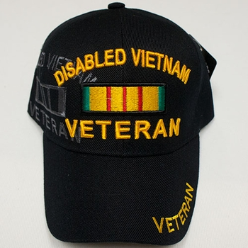 Wholesale Licensed US Military Hats Caps - MI-483 Disabled Vietnam Veteran (No Side Shadow)